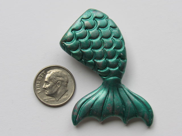 Needle Minder ~ Teal Green Mermaid Tail (Clay) ONE OF A KIND!