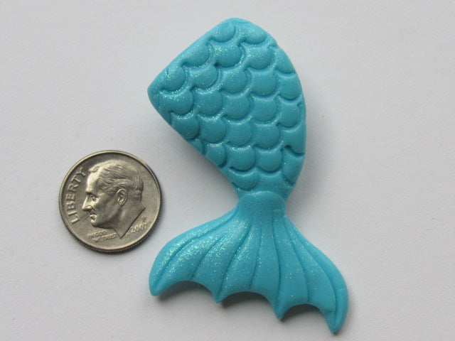 Needle Minder ~  Mermaid Tail - Blue Glitter (Clay) ONE OF A KIND!