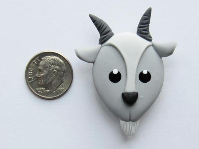 Needle Minder ~ Gray Goat (Clay)