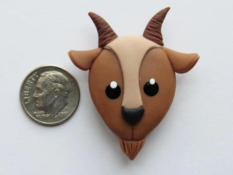 Needle Minder ~ Brown Goat (Clay)