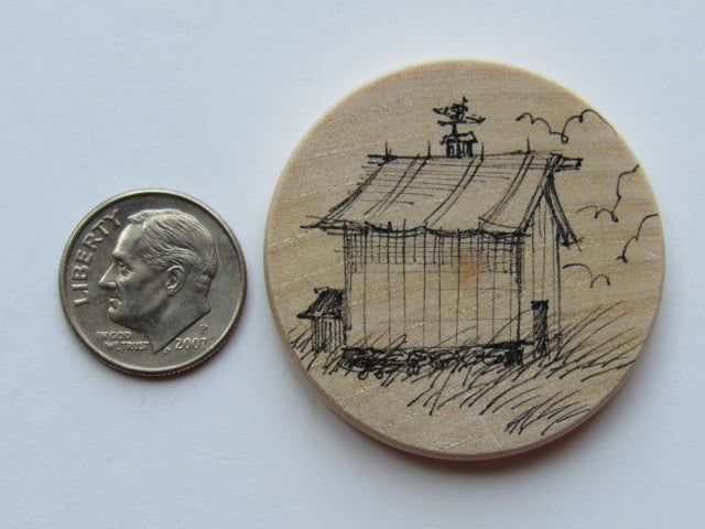Michelle Palmer Needle Minder ~ Old Barn J2 (One of a Kind!)