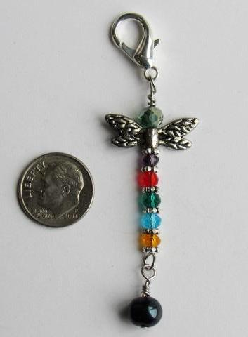 One of a Kind ~ Mini Scissor Fob w/Baroque Pearl ~ Dragonfly #4