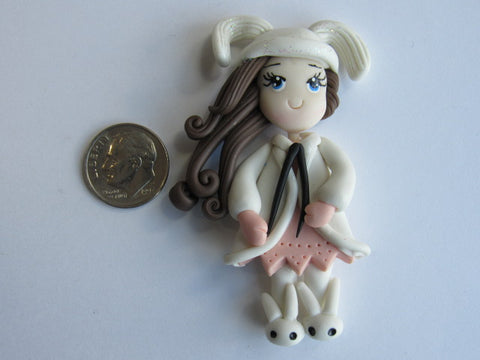 Needle Minder ~ Bunny Slippers (Clay) VERY LIMITED # AVAILABLE!