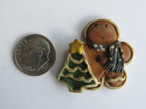 Needle Minder  ~ Gingerbread Man w/Tree