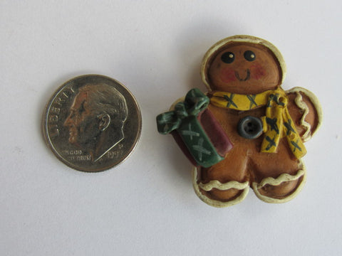Needle Minder  ~ Gingerbread Man w/Gift