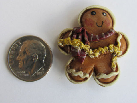 Needle Minder  ~ Gingerbread Man w/Popcorn