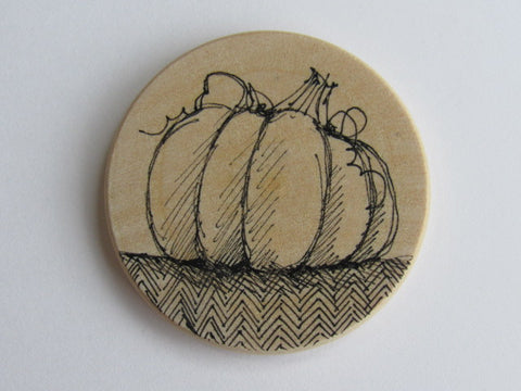 Michelle Palmer Needle Minder ~ Pumpkin O6 (One of a Kind!)