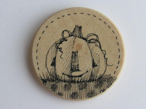 Michelle Palmer Needle Minder ~ Jack O'Lantern O10 (One of a Kind!)