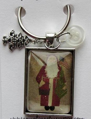 Sampling of Memories ~ Santa w/Flag Thread Keep (Very Limited # in-stock!)