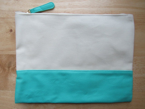 Teal & Canvas Project Bag