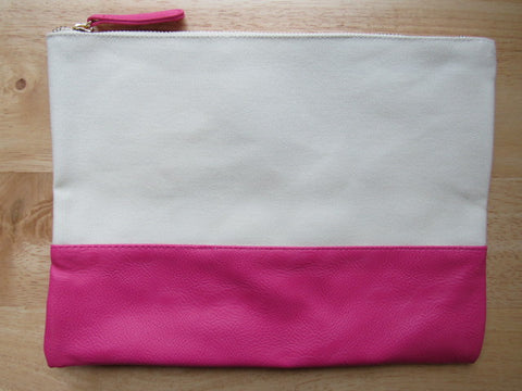 Pink & Canvas Project Bag