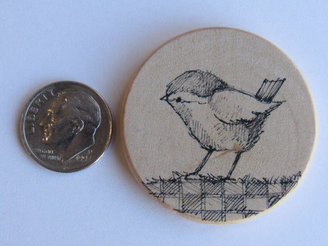 Michelle Palmer Needle Minder ~ Winter Bird D13 (One of a Kind!)