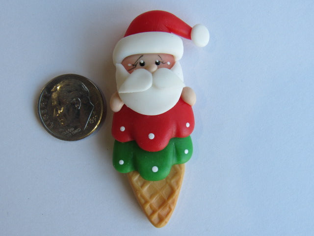 Needle Minder - Santa's wants ice cream! (Clay)