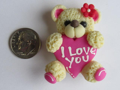 Needle Minder ~ I Love You Bear (Clay) Special Price for Valentine's Day!!!