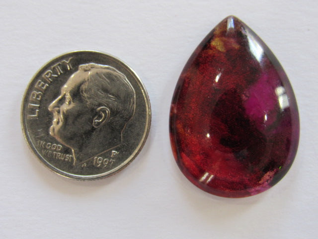 Hand Painted Glass Needle Minder ~ Teardrop #8  ~ ONE OF A KIND!