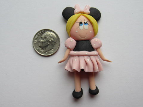 Needle Minder ~ Lil' Minnie Girl  (Clay) ONE OF A KIND!