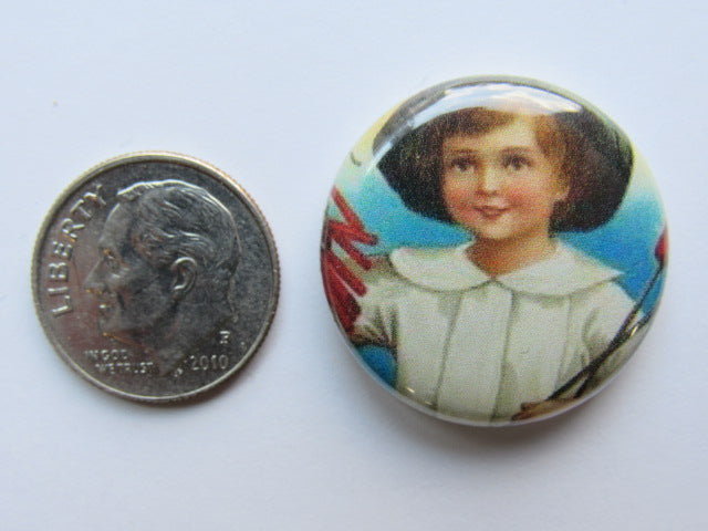 "1"" Button Magnet ~ Vintage July 4th #1 - ONE OF A KIND!"