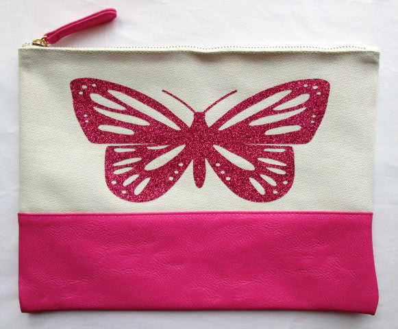 Project Zipper Bag - Glitter Butterfly