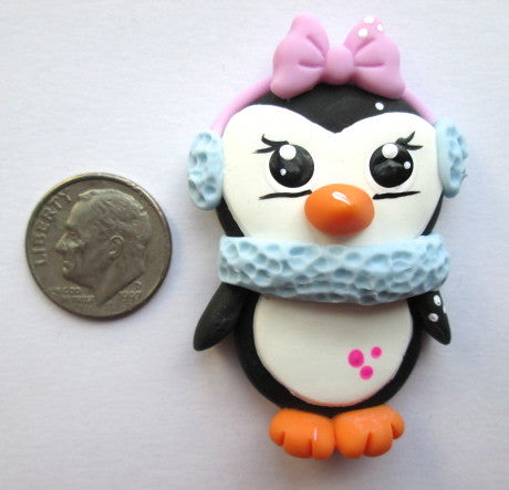 Needle Minder - Pearl Penguin (Clay)