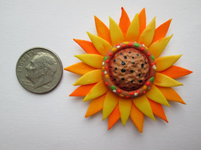 Needle Minder ~ Sunflower (Clay)