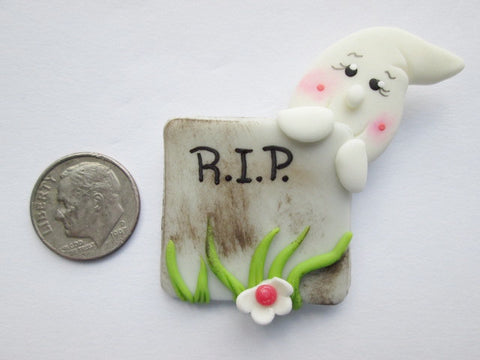 Needle Minder ~ R.I.P Peek-a-BOO (Clay) ONE OF A KIND!