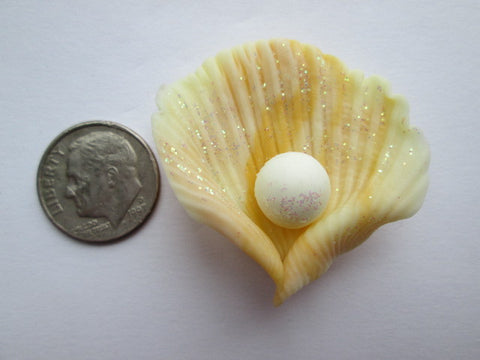 Needle Minder ~ Clay Shell with Pearl (Various Colors)