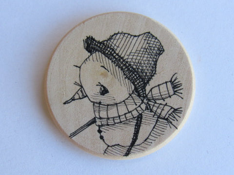 Michelle Palmer Needle Minder ~ Snowman N9 (One of a Kind!)