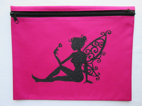 Pretty Pixie ~ Black Glitter Project Bag (Various Colors)