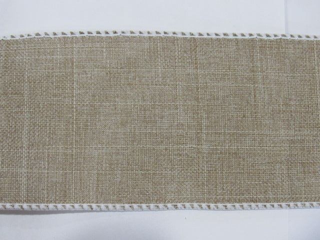 "36ct Linen Banding ~ Natural/Raw with white edges ~ 2 1/2"" Wide X 18"""