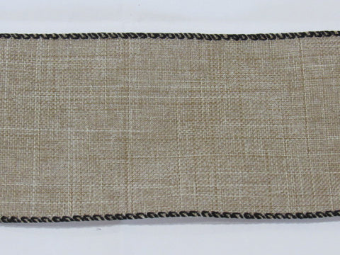 "36ct Linen Banding ~ Natural/Raw with black edges ~ 2 1/2"" Wide X 18"""