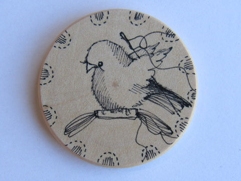 Michelle Palmer Needle Minder ~ Feathered Friend F11 (One of a Kind!)