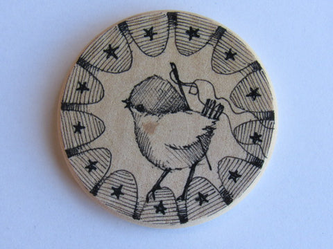 Michelle Palmer Needle Minder ~ Feathered Friend F4 (One of a Kind!)