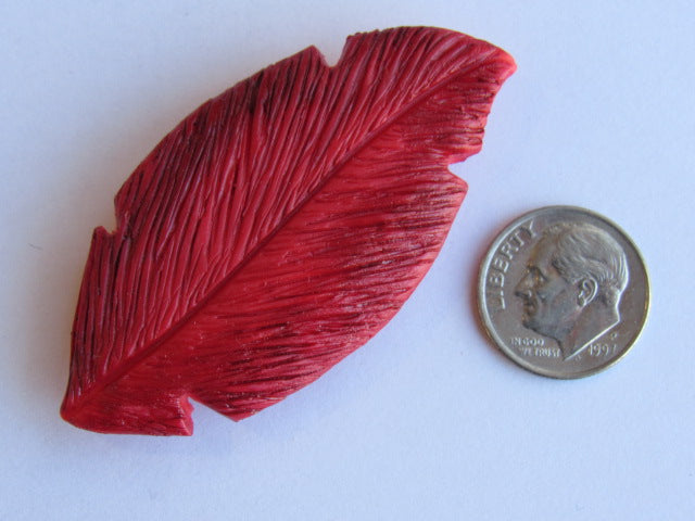 Needle Minder ~ Red Feather (clay)