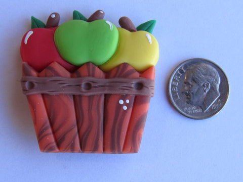 Needle Minder - Basket of Apples #2 (Clay)