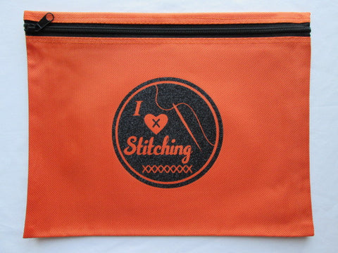 I Love Stitching Project Bag ~ Various Colors