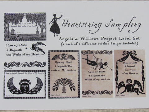 Heartstring Samplery ~ Project Labels ~ Angels & Willows