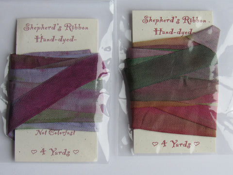 Shepherd's Bush ~ Hand Dyed Silk Ribbon #1