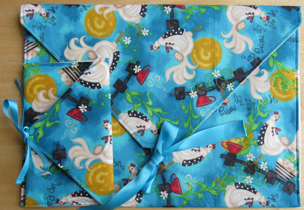 Envelope Project Bag Set ~ Up With The Morning Sun Chickens #2