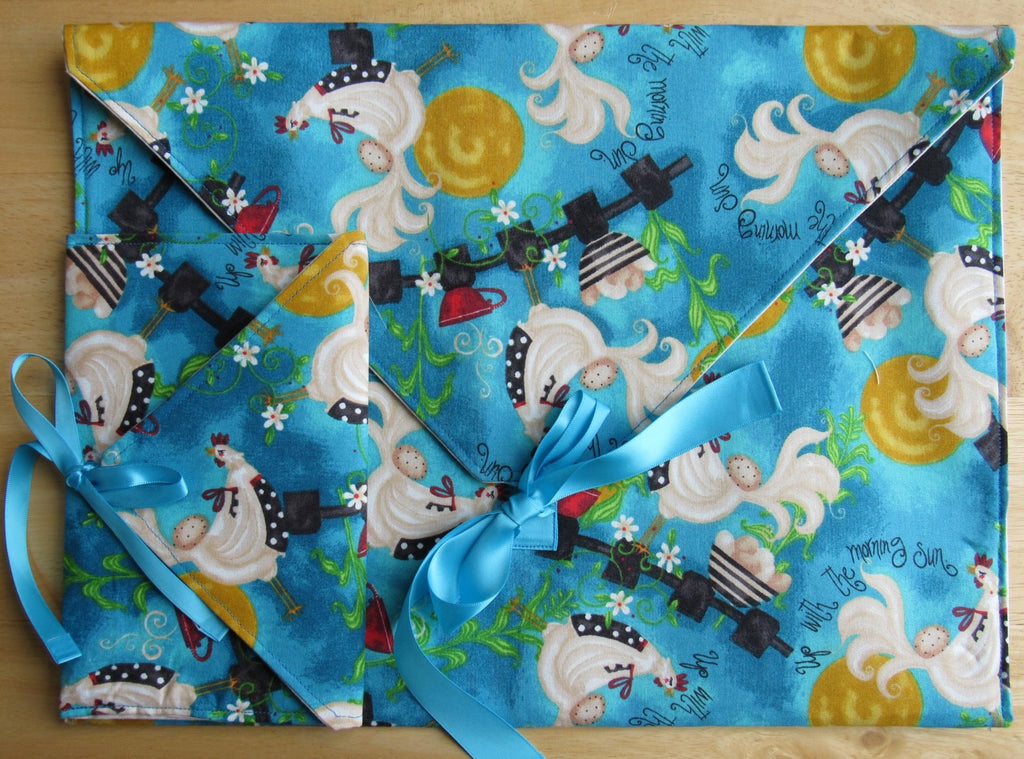 Envelope Project Bag Set ~ Up With The Morning Sun Chickens #1