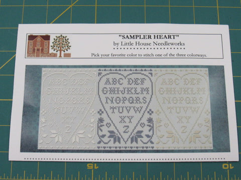 CC/LHN ~ NEW March 2020 floss colors & Sampler Heart pattern