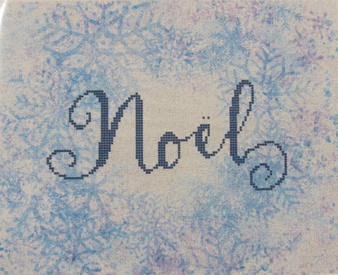 Pixels On Cotton ~ Noel on Frosty Snowflakes ~ 16ct Aida Kit