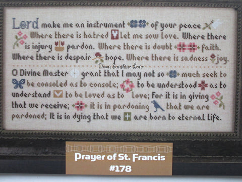 Lizzie Kate Charts ~ Prayer of St. Francis