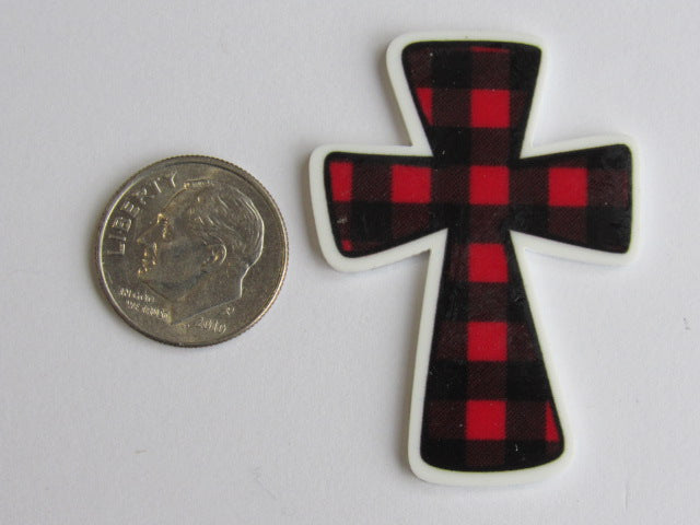 Needle Minder ~ Buffalo Plaid Cross