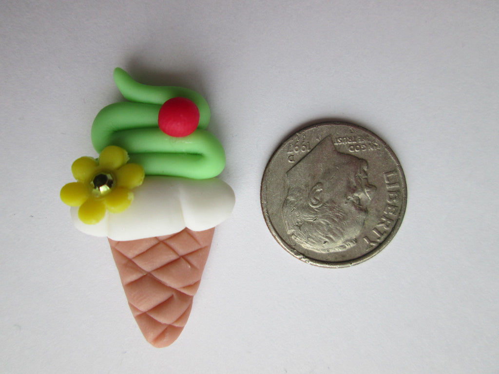 Needle Minder - Lime Sherbet Cone (Clay)