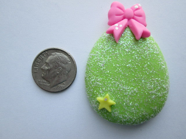 Needle Minder ~ Sparkle Green Easter Egg (Clay) ONE OF A KIND!