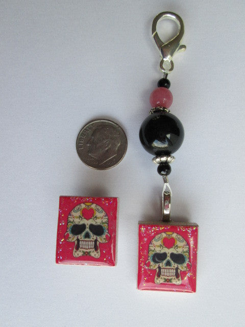 Sugar Skull #1 Mini Fob & Magnet Set