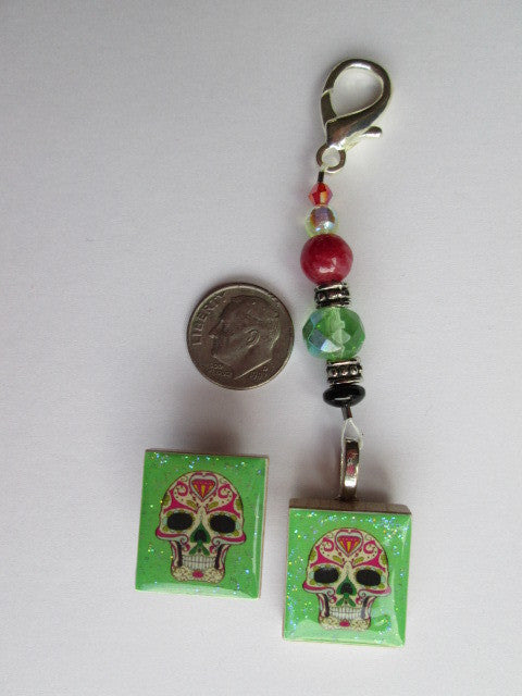 Sugar Skull #7 Mini Fob & Magnet Set