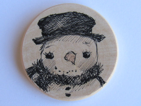 Michelle Palmer Needle Minder ~ Snowman N3 (One of a Kind!)