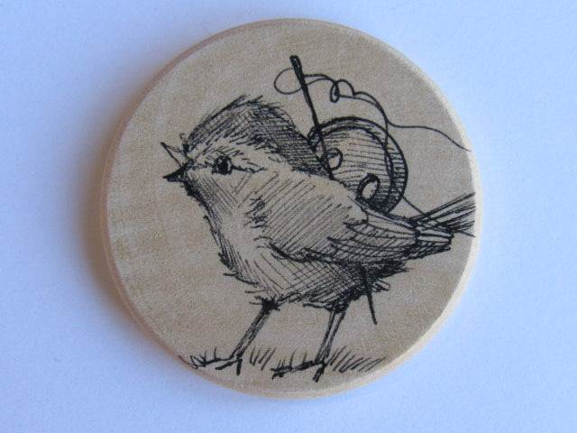 Michelle Palmer Needle Minder ~ Sewing Bird N6 (One of a Kind!)