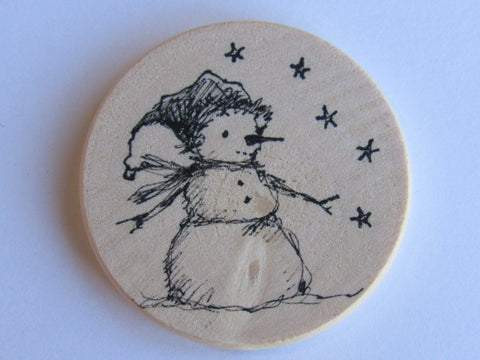 Michelle Palmer Needle Minder ~ Snowman N4 (One of a Kind!)